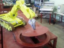 Отработка технологии открытия крышки узла загрузки с помощью комплекса МРК-27-МА-БАЭС на специальном стенде-имитаторе