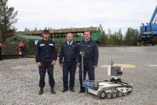 Участники учений – представители ИТУЦР вместе с МРК-27