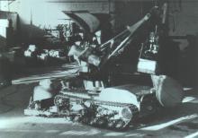 """Отработка технологии сооружения опалубки по периметру крыши зоны """"М"""" с помощью «Мобот-Ч-ХВ-2»"""