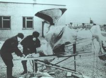 Техническое обслуживание «Мобот-Ч-ХВ-2» после выполнения им работы на крыше