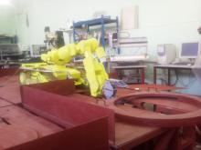 Отработка технологии установки/удаления вкладыша узла загрузки с помощью комплекса МРК-27-МА-БАЭС на специальном стенде-имитаторе