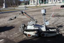 Комплекс МРК-35 с установленной автоматизированной катушки с тросом для эвакуации объектов