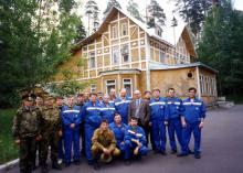 Сводный коллектив специалистов после успешного завершения работ по устранению аварии