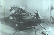 Отработка применения в составе «Мобот-Ч-ХВ-2» отбойного молотка