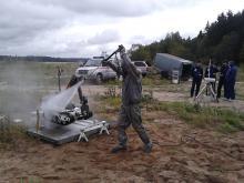 Дезактивация комплекса МРК-27 после учений