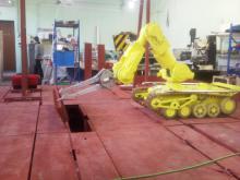Отработка технологии открытия крышки щели с помощью комплекса МРК-27-МА-БАЭС на специальном стенде-имитаторе