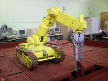 Отработка технологии захвата петли кассеты с помощью комплекса МРК-27-МА-БАЭС на специальном стенде-имитаторе