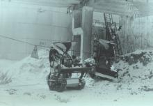 Комплексы «Мобот-Ч-ХВ-2» во время работы по расчистке крыши