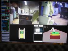 Учения операторов комплекса МРК-27-МА-БАЭС на территории Белоярской АЭС (фотография с поста управления)