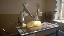 Отработка возможности выполнения малоинвазивной биопсии брюшной полости на фантоме человека