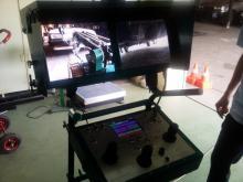 На мониторах поста управления изображения, получаемые с телекамер МРК-27-ВТ во время осмотра днища автомобиля